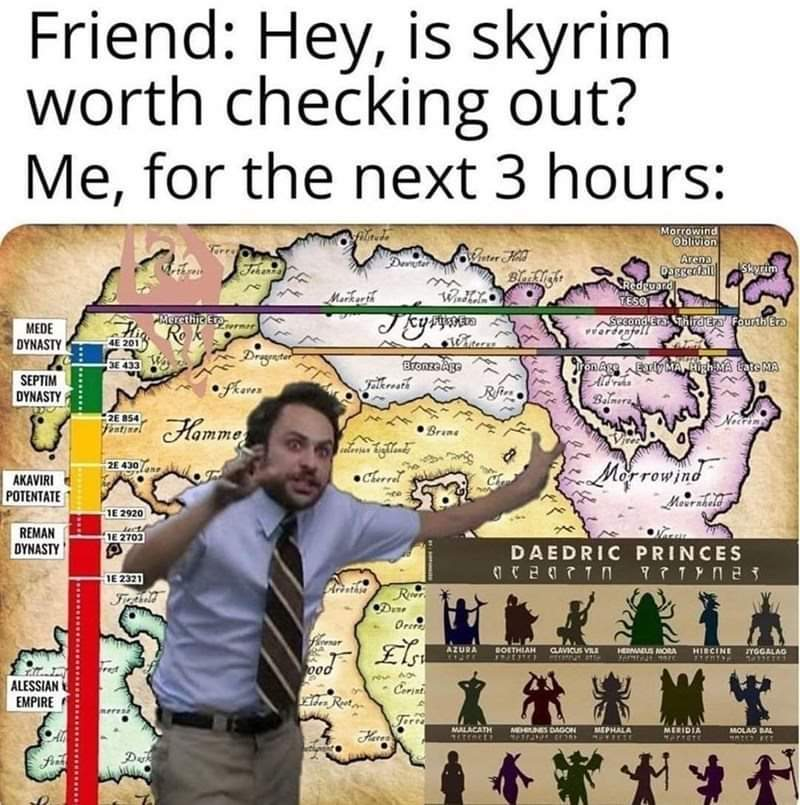 TES universe is one of the best fictional universes, no mind changing needes - meme