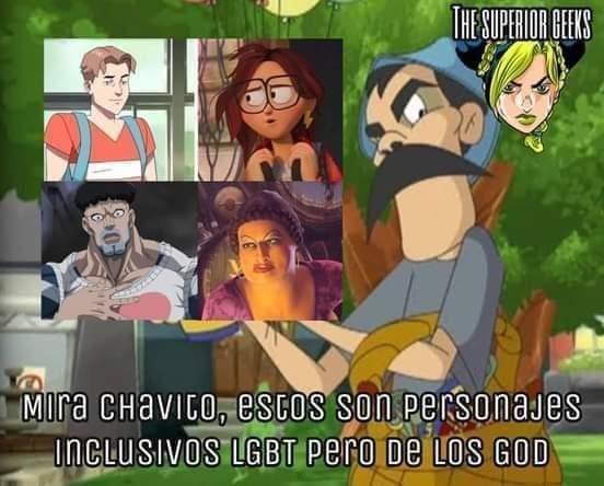 Jotos de los GOD - meme