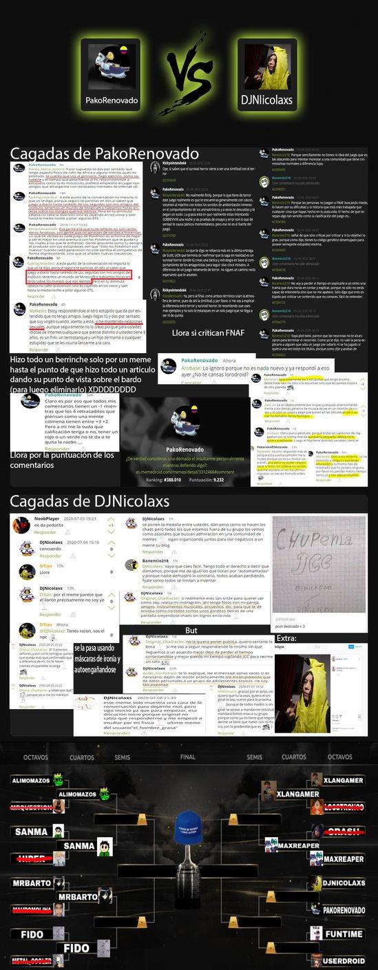 """El traumado con el reGADton vs """"Para darle potasio a la humillada"""" XDXDXDXD Voten ninis, voten - meme"""