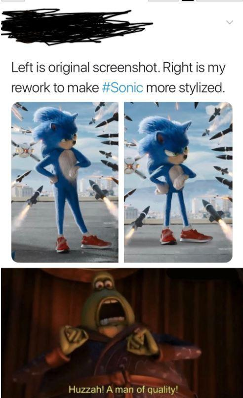 How Sonic should look like - meme