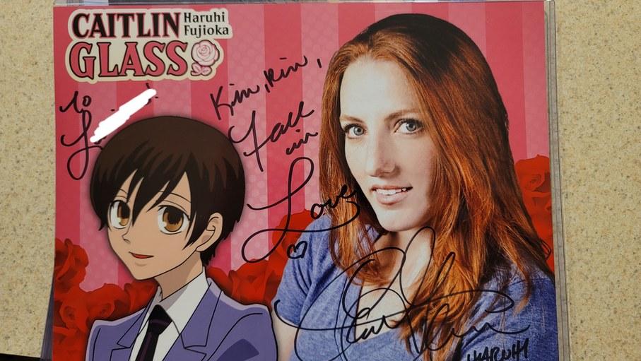 Caitlin Glass Host club autograph to the woman - meme