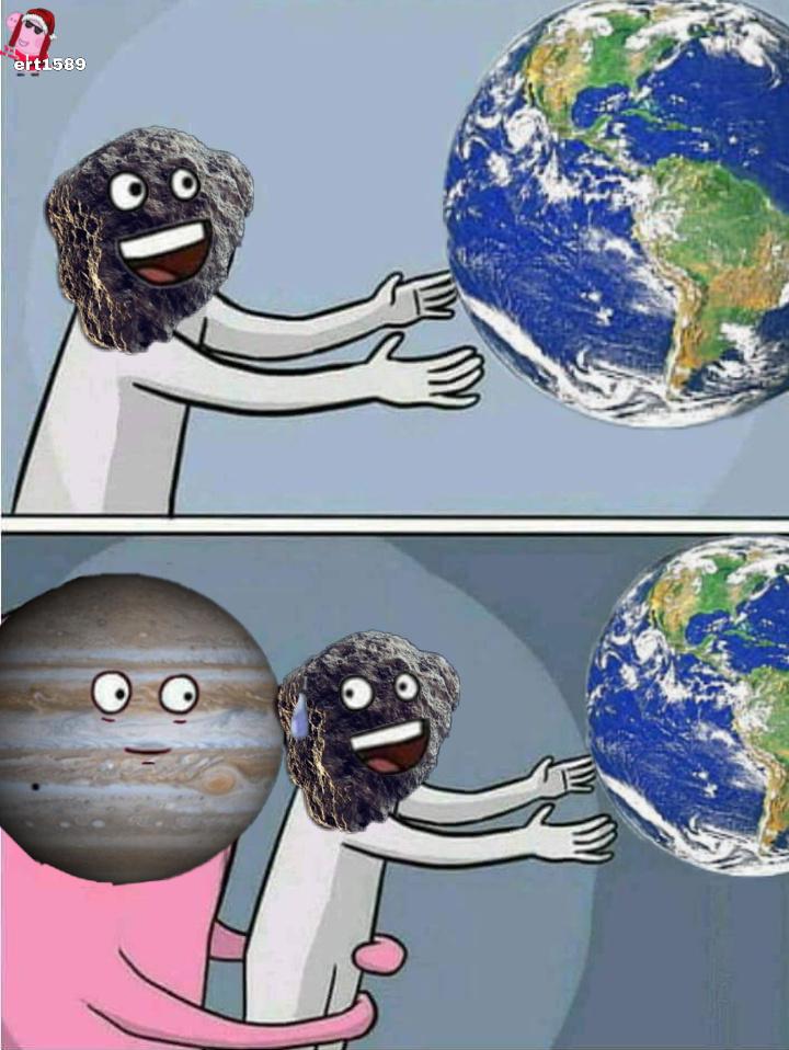 Meteoritos y Júpiter - meme