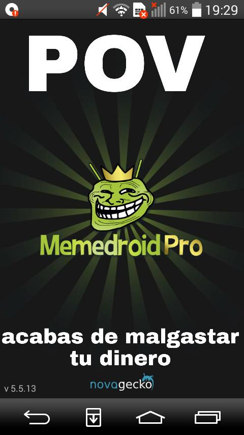 Memedroid no me deja recortar memes :cool: