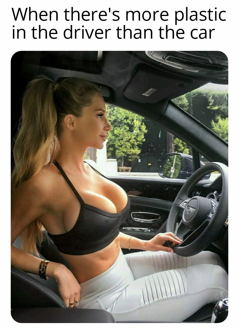 At least she's got those huge airbags - meme