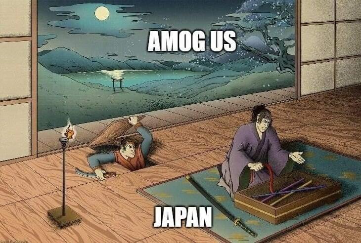 Amogus-san a q pdo - meme