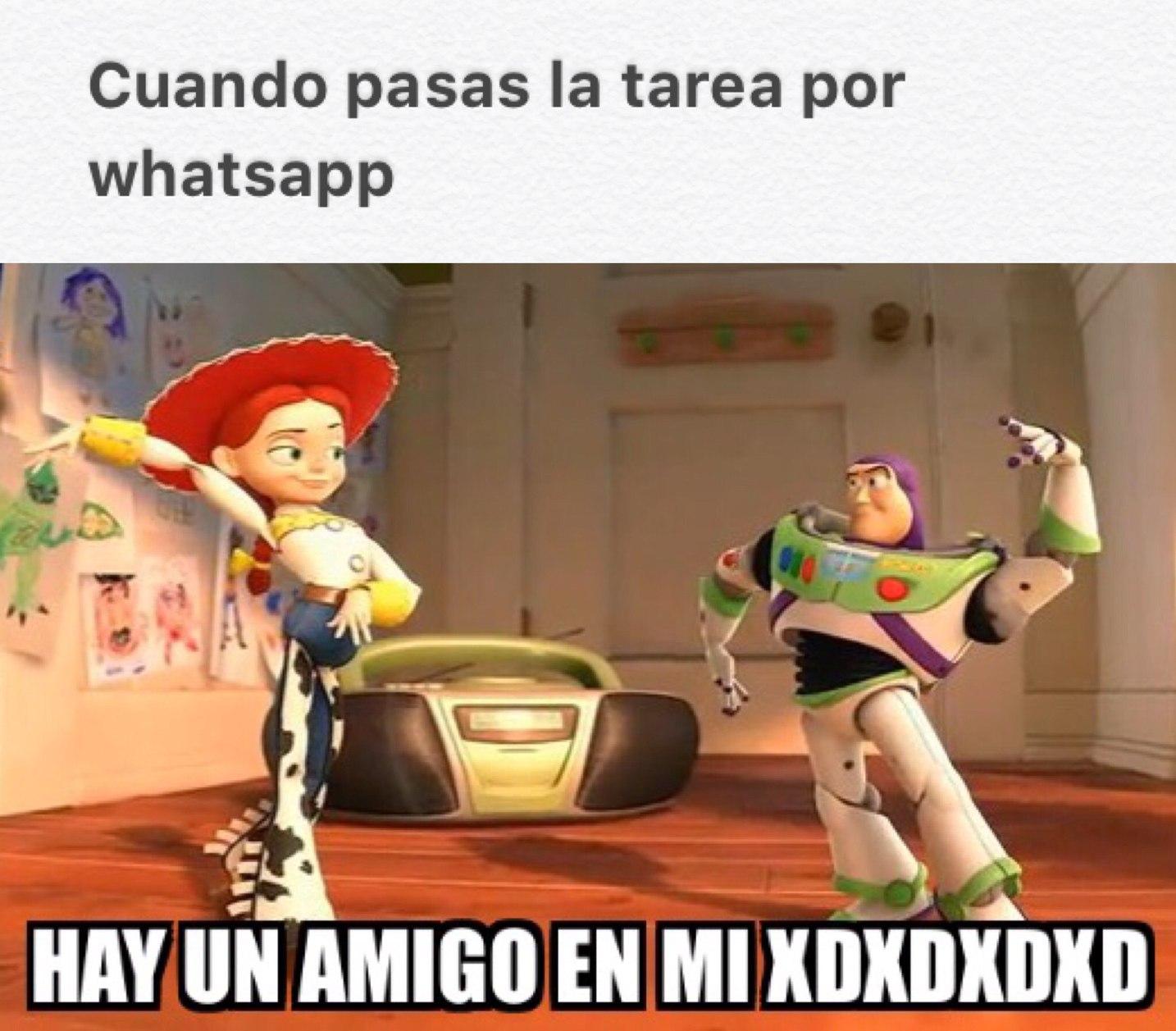 hay un amigo en mi xdxdxdx (meme e imagen hecha por mi)