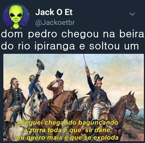 Feliz 7 de setembro patria amada Brasil - meme