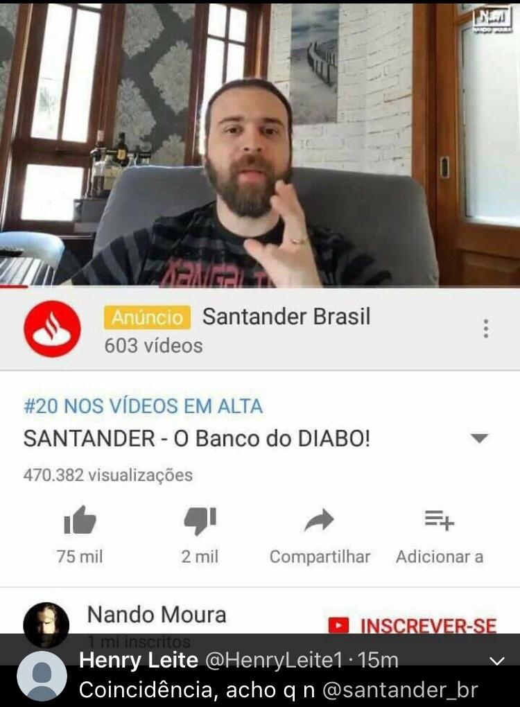 Será q o Santander me responde? - meme