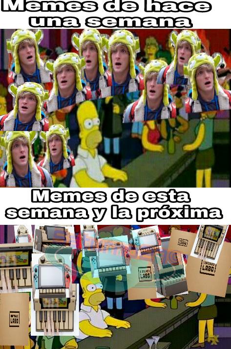Más y más Nintendo labo - meme