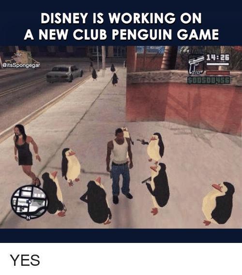 Novo Club pinguim ta diferente - meme