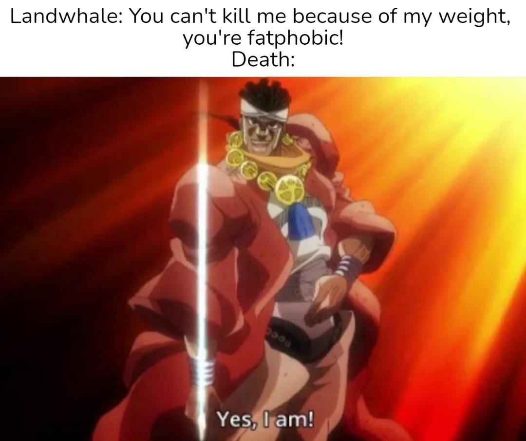Death isn't prejudice, he's just a guy doing his job - meme