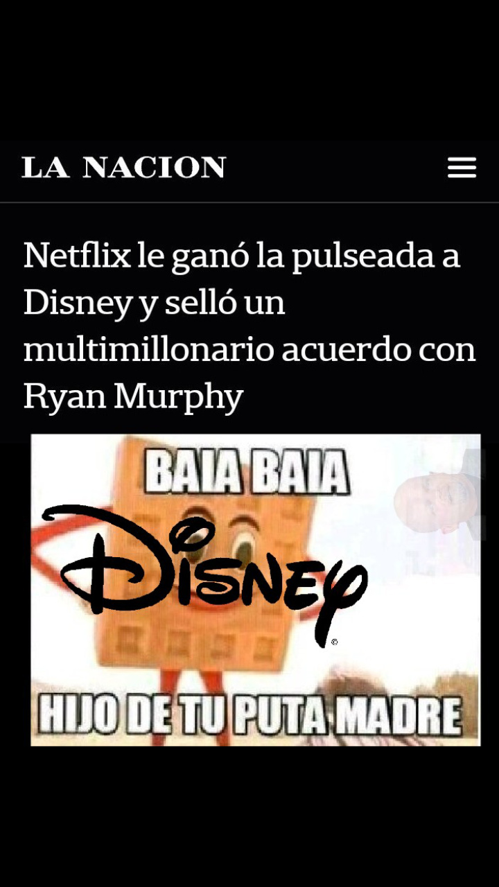 Disney y Netflix. - meme