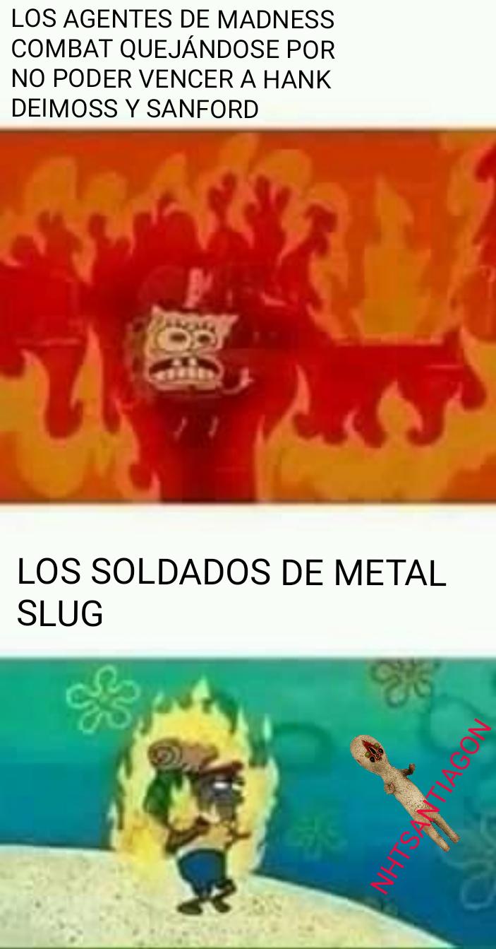 Los soldados de metal slug son violados por 1 - meme