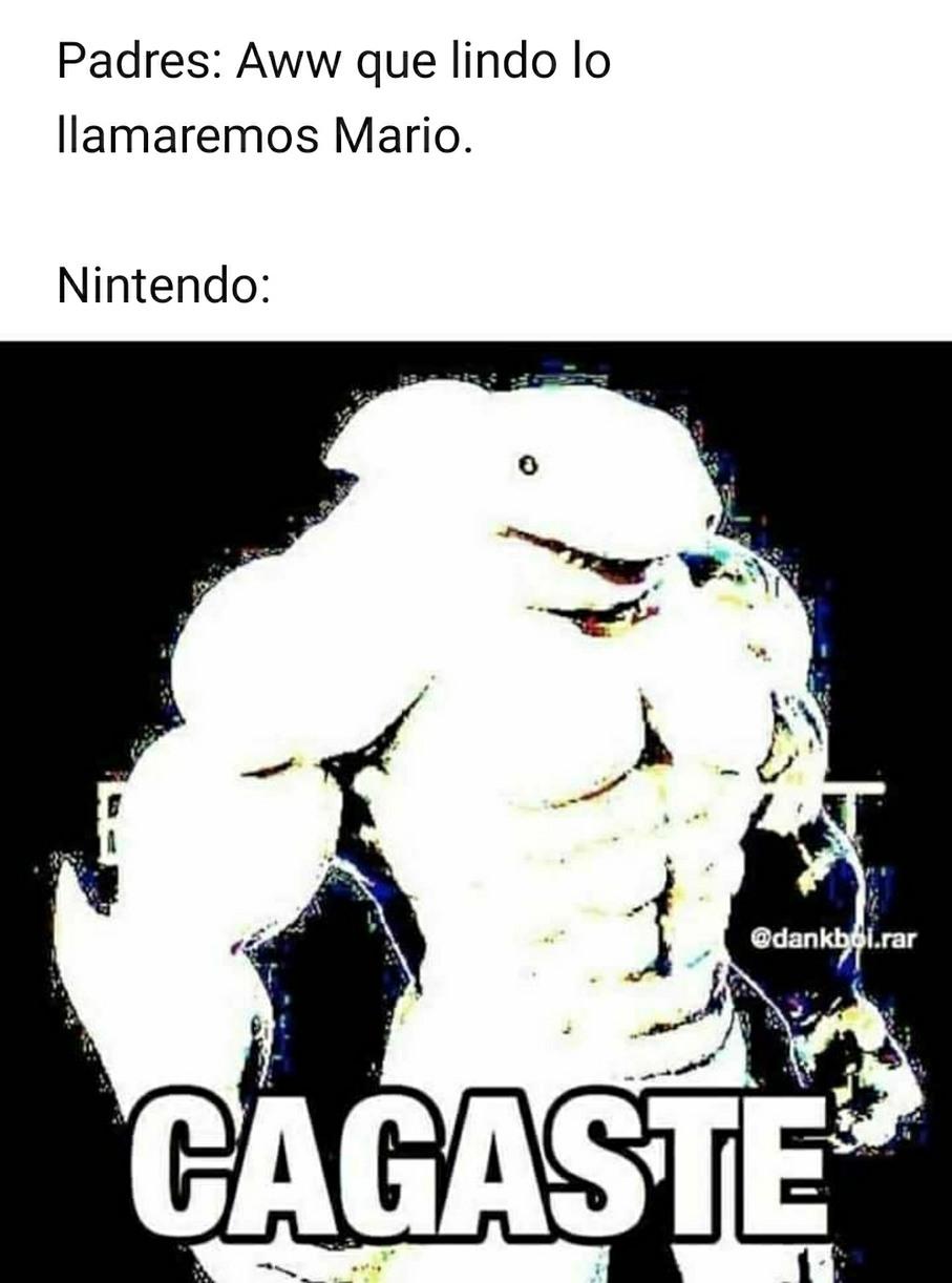 Cagaste *los dmanda* - meme