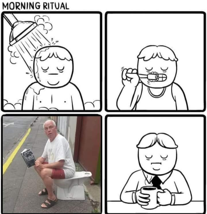 Morning ritual - meme
