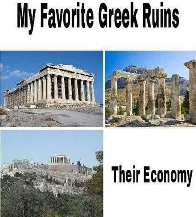 My favorite greek ruins - meme