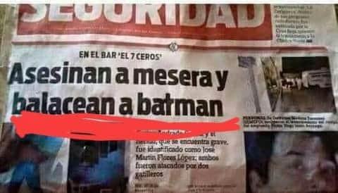 No batsy nooo - meme