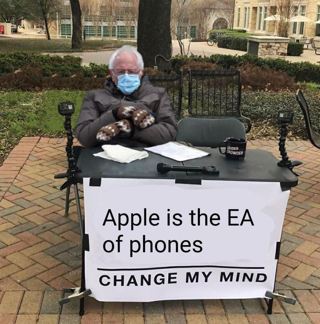 apple and ea are twinns - meme