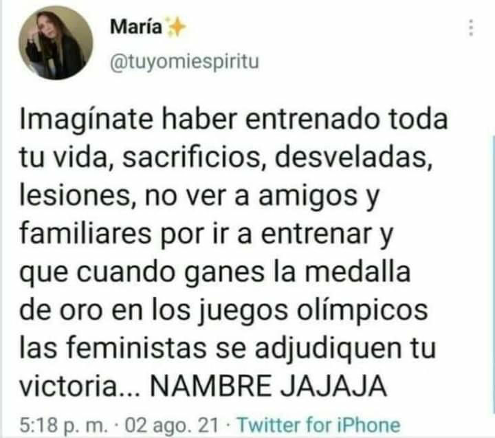 El feminismo es un chisme - meme