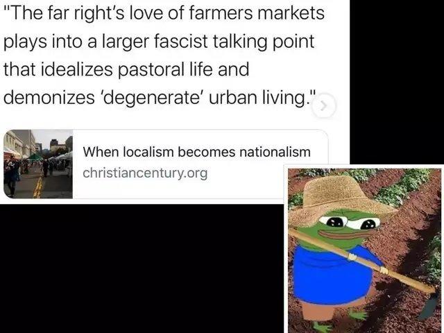 Fresh produce is racist. - meme