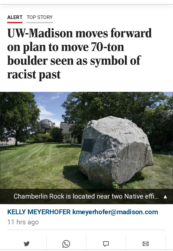 "Rock: ""exists."" Liberals: "" it's racist."" - meme"