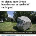 "Rock: ""exists."" Liberals: "" it's racist."""