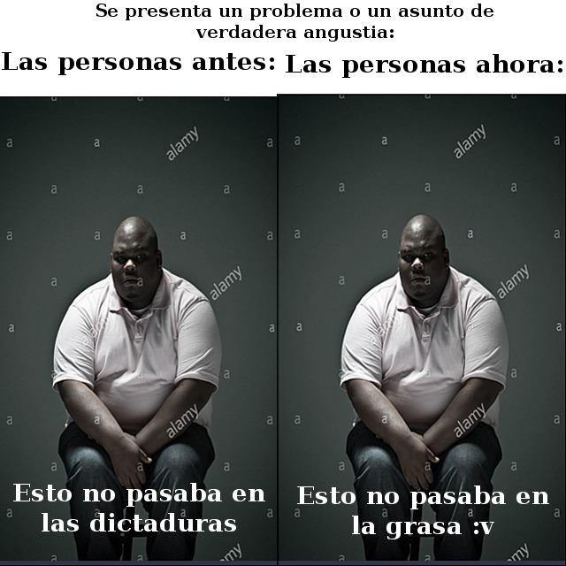En conclusión: para mejorar latinoamérica, tenemos que hacer que la grasa vuelva. - meme