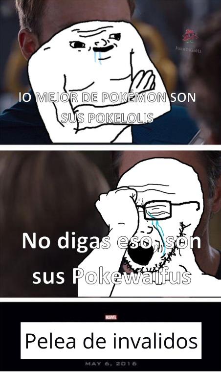 Con Pokewaifus me refiero a las Pokémon femeninas profanadas por la Rule 34 - meme