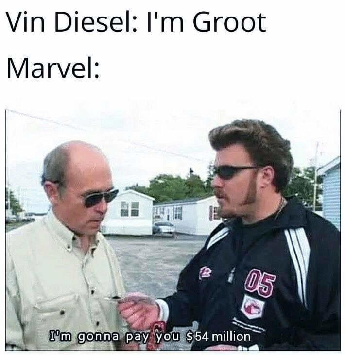 Groot=money? - meme