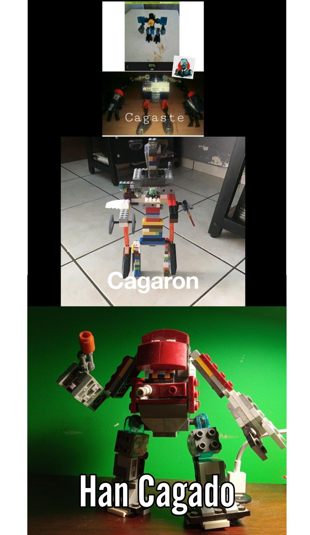 lego meme, moc de robot con colores de iron man