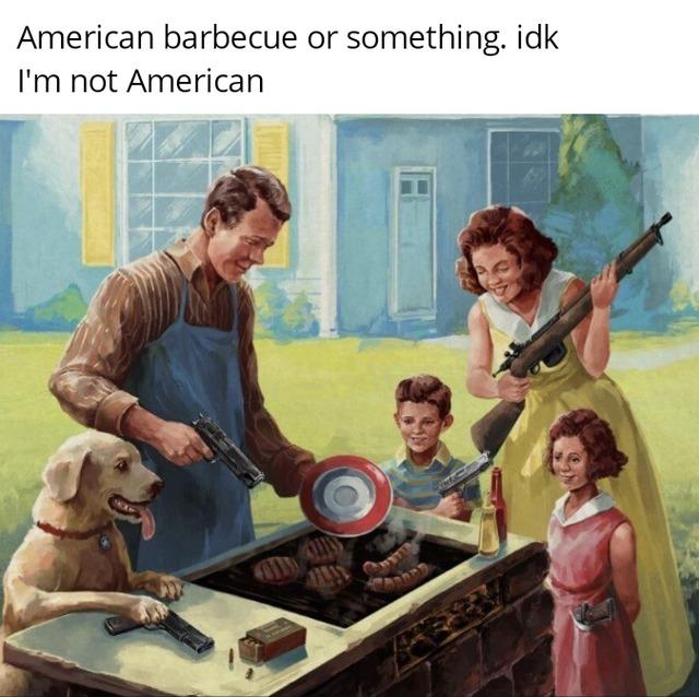 American barbecue - meme