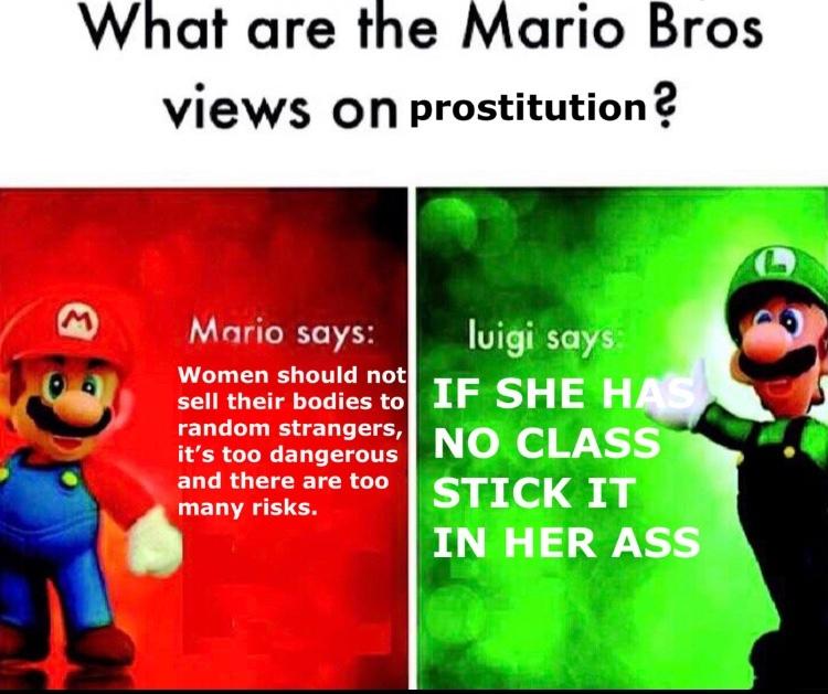 Luigi is a wise man - meme