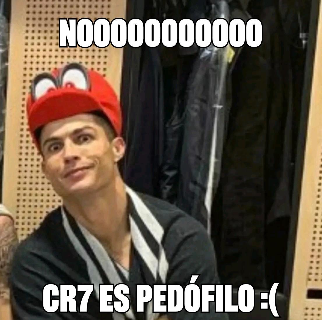 CR7 Pedófilo - meme