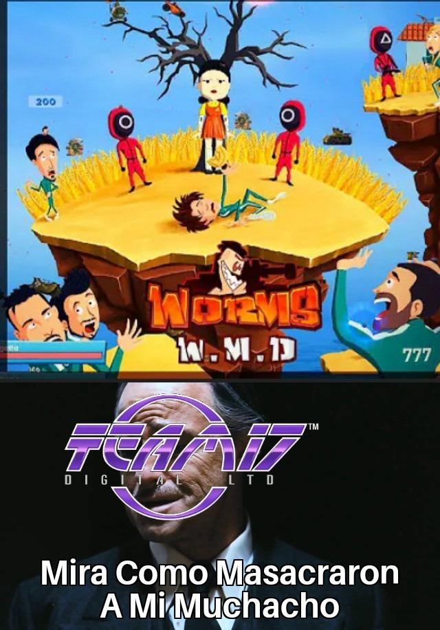 El Juego Del Mierdamar A Llegado En Juegos Y Hasta Worms No Se Escapa - meme