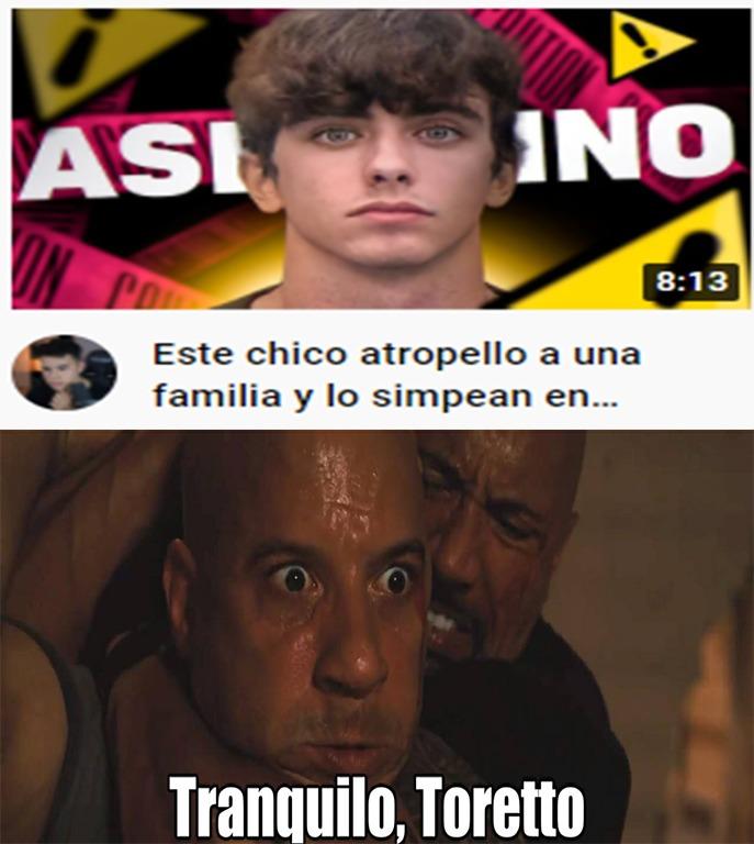 El único meme que hago de Toretto y su familia