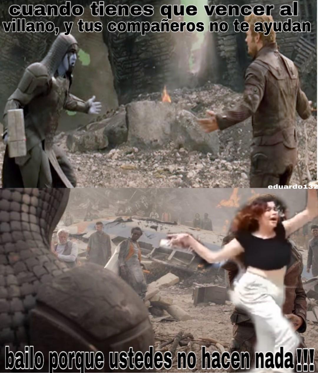 El baile que salvó al universo - meme