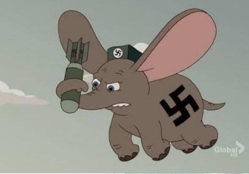 Dumbo nazista foda-se - meme