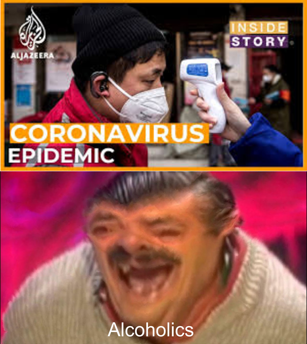When you realize corona can kill coronavirus - meme