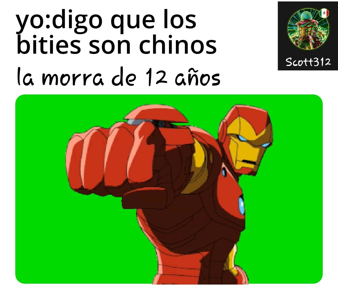 Iron man noooooooo eso no es de Cracks - meme