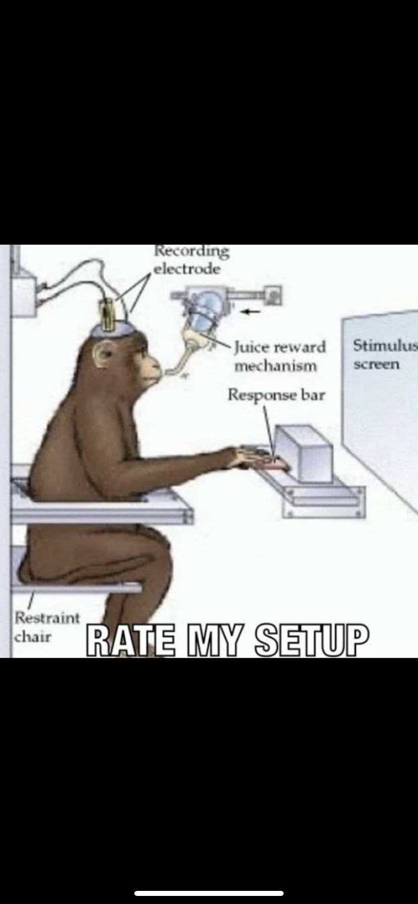 Rate his setup - meme