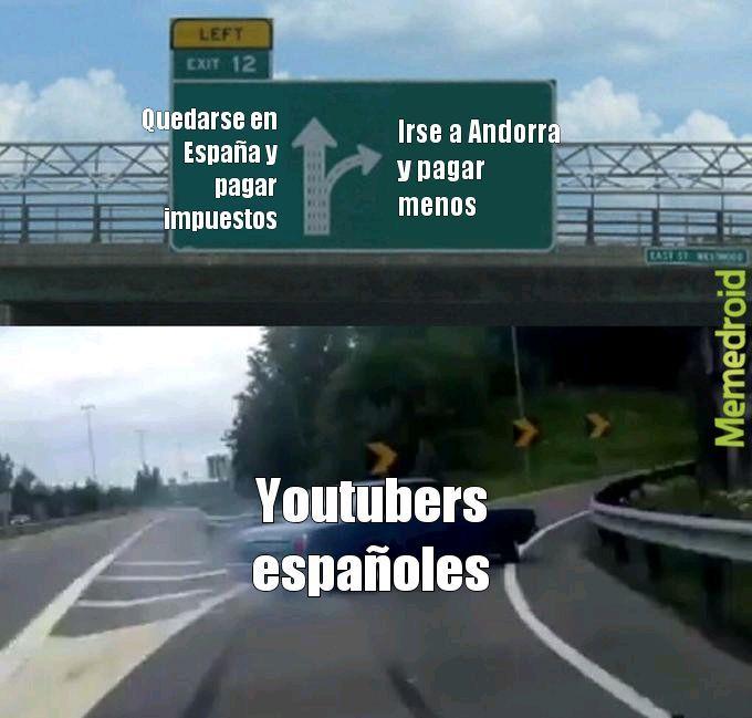Literalmente youtubers de España - meme