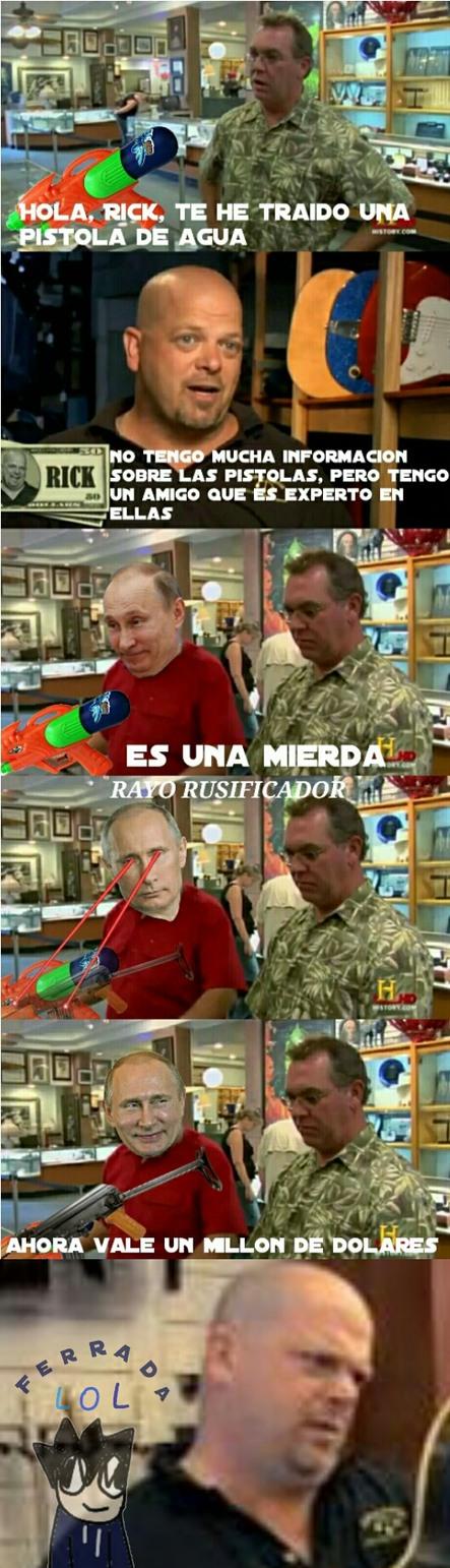 Dios Putin - meme