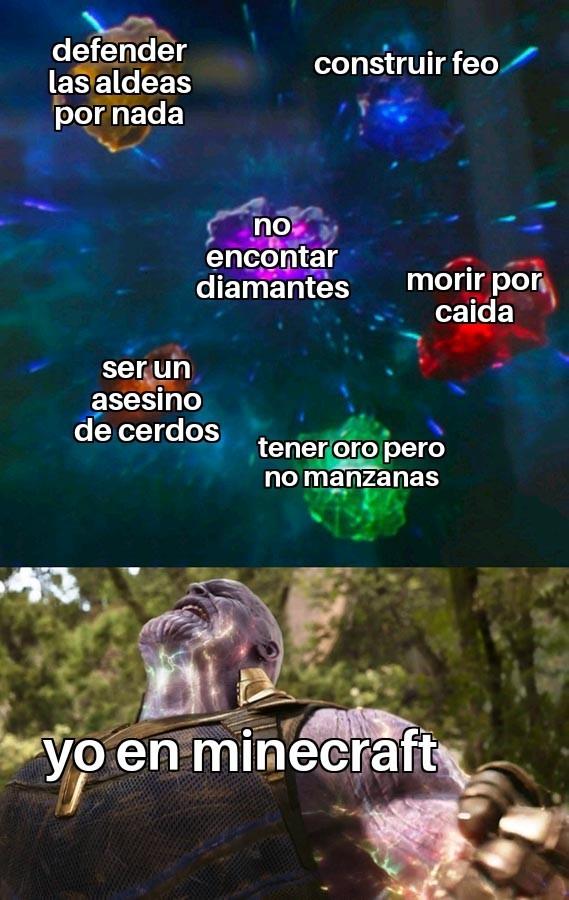 Minecraft en realidad - meme