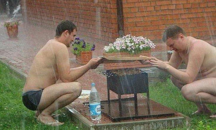 Quand tu tiens vraiment à faire un barbecue - meme