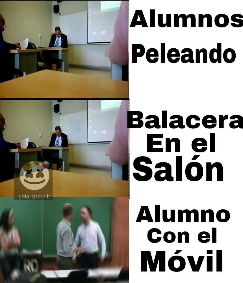 Los profesores XD - meme