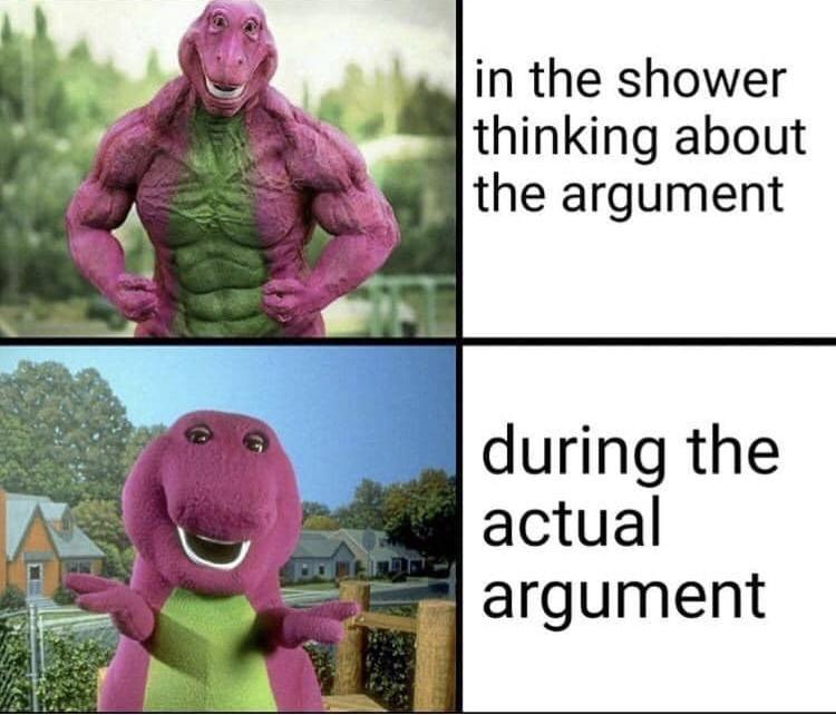During argument vs after - meme
