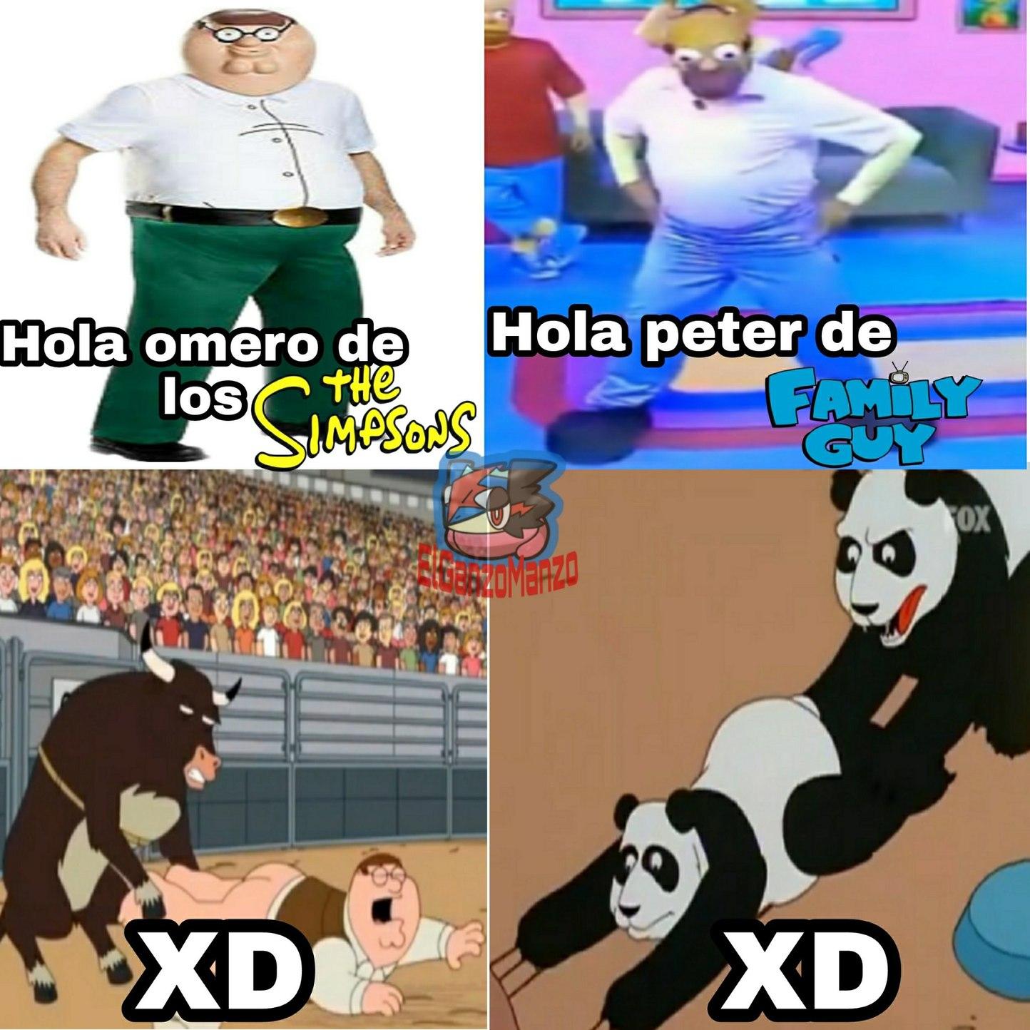 Homero fue violado por un panda ._. - meme