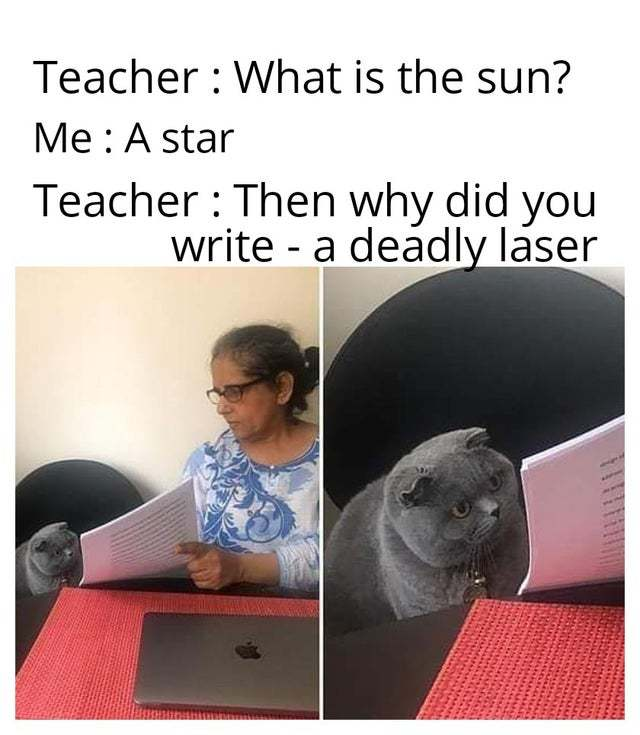 Is the sun really a deadly laser? - meme