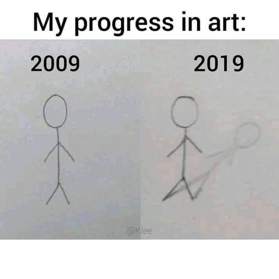 My progress in art | gagbee.com - meme