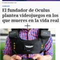 oculus rift  + chaleco que sientes dolor = game over real